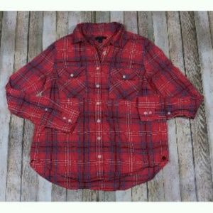J.Crew Boyfriend Shirt in Cerise Plaid E4326